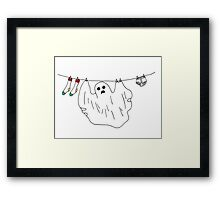 #ghostproblems Framed Print