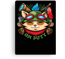 Teemo On Duty Canvas Print