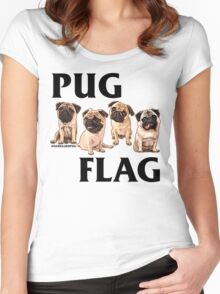 Pug Flag (Fawn) Women's Fitted Scoop T-Shirt
