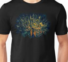 Peacock Feather Illustration Graphic Design Bird Wildlife Unisex T-Shirt