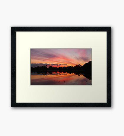 Lagoon Sunset Framed Print