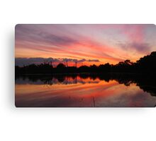 Lagoon Sunset Canvas Print