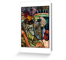 Toulouse Lautrec: At the Circus (Stained Glass) Greeting Card