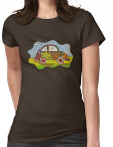 VW Punch Buggy Vroom Vroom Womens Fitted T-Shirt