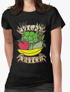 Vegan Foods Womens Fitted T-Shirt