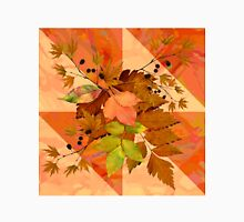 Autumn Leaves on Marbled Shapes Unisex T-Shirt