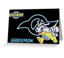 Gabumon and the Crest of Friendship Greeting Card