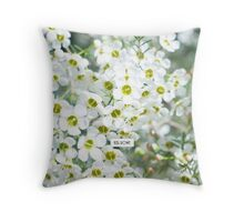White Geraldton Wax wildflowers Throw Pillow