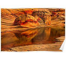 Petrified Dune Reflections Poster