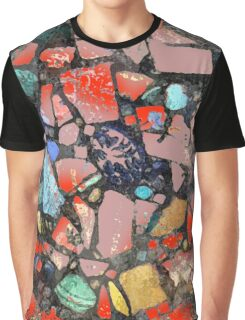Abstract of Blue Willow China Pattern Graphic T-Shirt