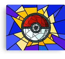 Stained Glass Pokeball Canvas Print