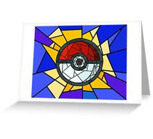 Stained Glass Pokeball Greeting Card
