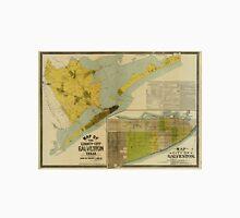Vintage Map of Galveston Texas (1891) Unisex T-Shirt