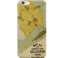 Vintage Map of Galveston Texas (1891) iPhone Case/Skin