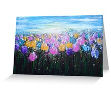 Tulips at Sunrise Greeting Card