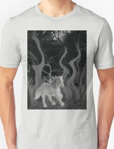 Wild Horse in the Forest Unisex T-Shirt