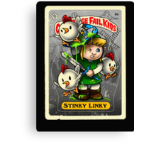 Stinky Linky Canvas Print