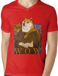 Mona Doge Mens V-Neck T-Shirt