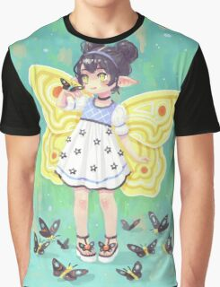 Butterfly Girl Graphic T-Shirt