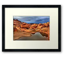 Pools And Petrified Sand Dunes  Framed Print