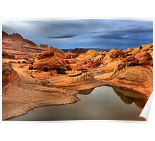 Pools And Petrified Sand Dunes  Poster