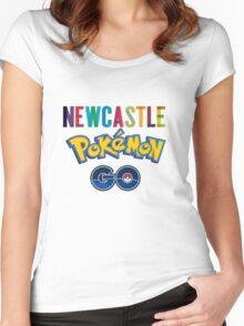 Pokemon Go Newcastle Women's Fitted Scoop T-Shirt