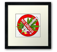 No Drugs Framed Print