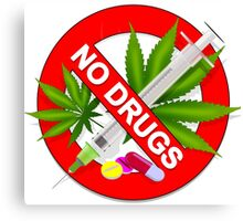 No Drugs Canvas Print