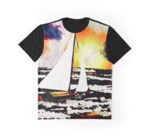 Sunset Sailing Graphic T-Shirt