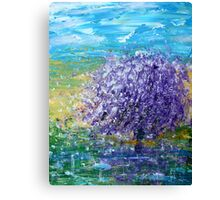 Purple Blossoms Canvas Print