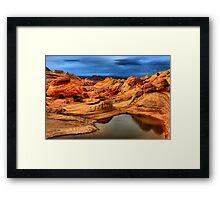 Water In The Desert Wilderness Framed Print