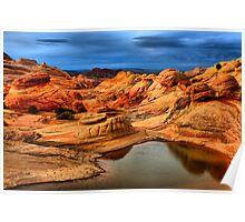 Water In The Desert Wilderness Poster