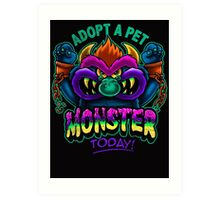 Adopt a Pet Monster Art Print