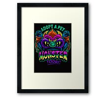 Adopt a Pet Monster Framed Print