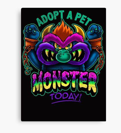 Adopt a Pet Monster Canvas Print