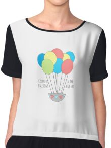 Balloons in the sky  Chiffon Top