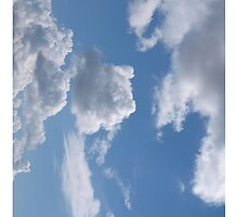 Clouds Cushion, Duvet cover,  iPad Case Phone Cases, Prints Cards #1 by Virginia McGowan