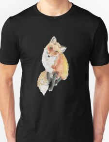 Fox Prince Watercolor Unisex T-Shirt
