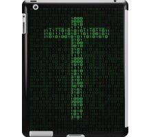 Binary Code Cross iPad Case/Skin