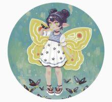 Butterfly Girl One Piece - Short Sleeve