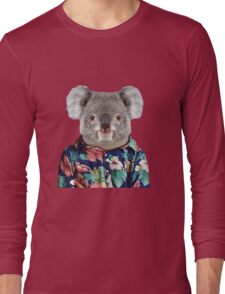 Cute Koala in a Hawaiian Shirt  Long Sleeve T-Shirt