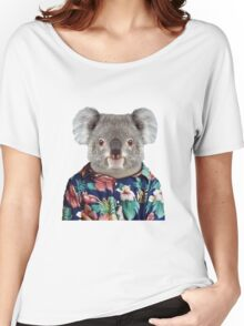 Cute Koala in a Hawaiian Shirt  Women's Relaxed Fit T-Shirt