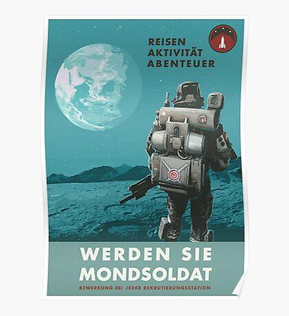 Werden Sie Mondsoldat Poster
