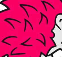 einhorn pferd pink lustig mädchen stacheln baby comic cartoon süßer kleiner niedlicher igel  Sticker