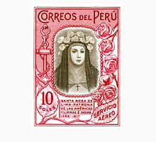 1936 Peru Saint Rose of Lima Postage Stamp  Unisex T-Shirt