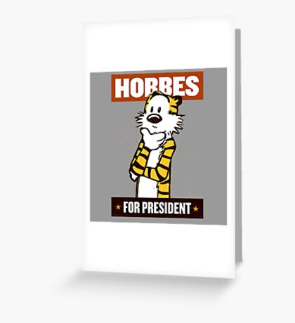 hobbes  Greeting Card