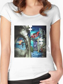 Graffiti Island Women's Fitted Scoop T-Shirt
