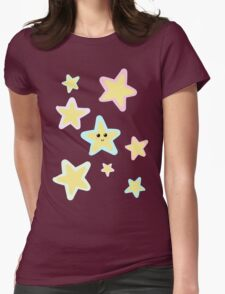 Pastel Twinkle Stars Womens Fitted T-Shirt