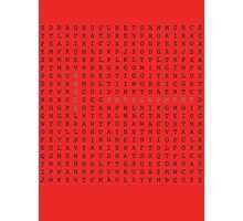Agile word search Photographic Print