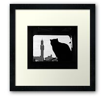 Silhouette, Florence Framed Print